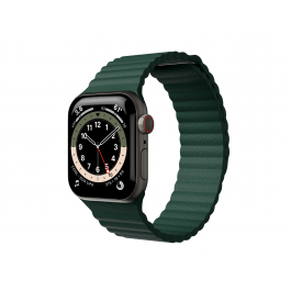Curea Next One Leather Loop pentru Apple Watch 42-44mm, Leaf Green