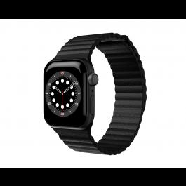 Curea Next One Leather Loop pentru Apple Watch 42-44mm, Negru