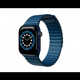 Curea Next One Leather Loop pentru Apple Watch 42-44mm, Denim Blue