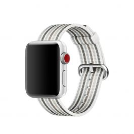 Curea Apple Watch 38mm Gray Stripe Woven Nylon   (Seasonal Spring2018)