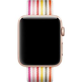 Apple Watch 42mm Band: Pink Stripe Woven Nylon