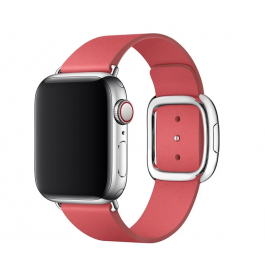 Curea Apple Watch 40mm Band: Peony Pink Modern Buckle Band - Large