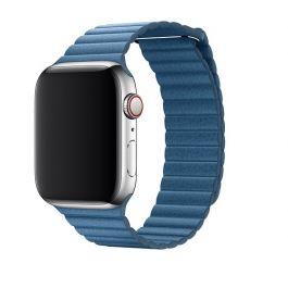 Curea Apple Watch 44mm Cape Cod Blue Leather Loop - Large