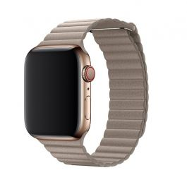 Curea Apple Watch 44mm Band: Stone Leather Loop - Medium