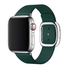 Curea Apple Watch 40mm Band: Forest Green Modern Buckle Band - Medium