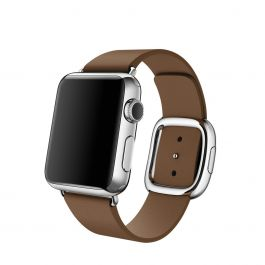Curea Apple Watch 38mm Band: Brown Modern Buckle - Small