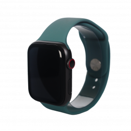 Curea Next One pentru Apple Watch 38/40mm, Silicon, Pine Green