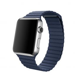 Curea Apple Watch 42mm Midnight Blue Leather Loop - Large