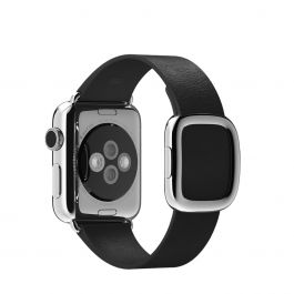 Curea Apple Watch 38mm Black Modern Buckle - Medium