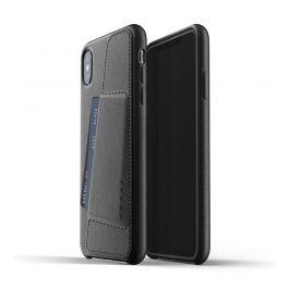 Husa de protectie Mujjo tip portofel pentru iPhone XS Max, Piele, Negru
