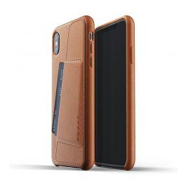 Husa de protectie Mujjo tip portofel pentru iPhone XS Max, Piele, Tan