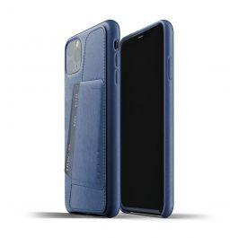 Husa de protectie Mujjo tip portofel pentru iPhone 11 Pro Max, Piele, Monaco Blue