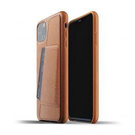 Husa de protectie Mujjo tip portofel pentru iPhone 11 Pro Max, Piele, Tan