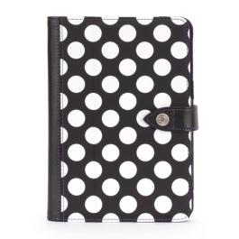 Griffin Back Bay Polka, Folio for iPad mini, Saffron - Black/White/Purple
