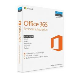 Microsoft Office 365 Personal English 2019 EuroZone 1 yr subscr medialess p4
