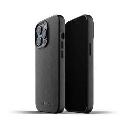 Husa de protectie Mujjo pentru iPhone 13 Pro, Piele, Black