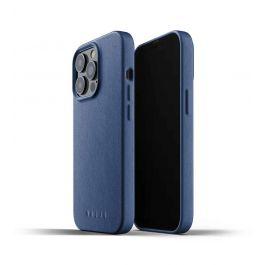 Husa de protectie Mujjo pentru iPhone 13 Pro, Piele, Monaco Blue