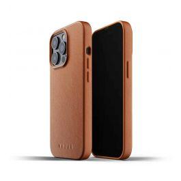 Husa de protectie Mujjo pentru iPhone 13 Pro, Piele, Tan