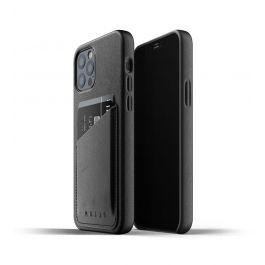 Husa de protectie Mujjo tip portofel pentru iPhone 12 / iPhone 12 Pro, Piele