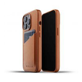 Husa de protectie Mujjo tip portofel pentru iPhone 13 Pro, Piele, Tan