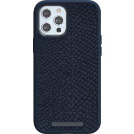 Husa de protectie Njord pentru iPhone 12 Pro Max, Piele, Albastru