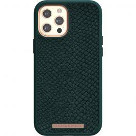 Husa de protectie Njord pentru iPhone 12 Pro Max, Piele, Dark Green