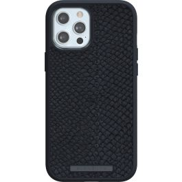 Husa de protectie Njord pentru iPhone 12 Pro Max, Piele, Negru