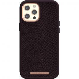 Husa de protectie Njord pentru iPhone 12 Pro Max, Piele, Purple
