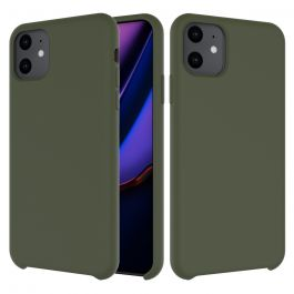 Husa de protectie Next One pentru iPhone 11 Pro Max, Silicon, Olive Green