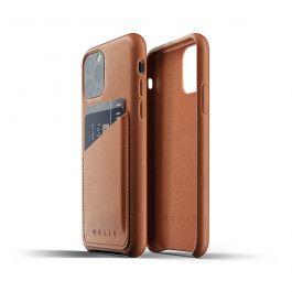 Husa de protectie Mujjo tip portofel pentru iPhone 11 Pro, Piele, Tan