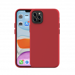 Husa de protectie Next One pentru iPhone 12 Pro Max, Silicon, Rosu