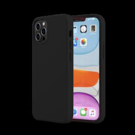 Husa de protectie Next One pentru iPhone 12 / iPhone 12 Pro, Silicon, Negru