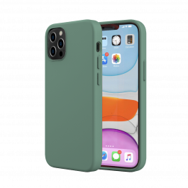 Husa de protectie Next One pentru iPhone 12 / iPhone 12 Pro, Silicon, Verde