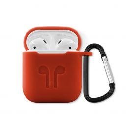 Husa de protectie iSTYLE Outdoor pentru Apple AirPods, Rosu