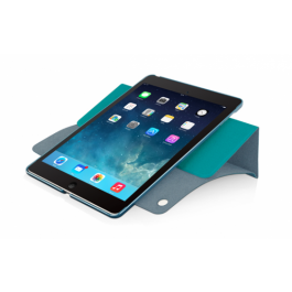 Macally Protective case with rotatable stand for iPad Air - Turquoise