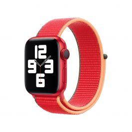 Curea Apple pentru Apple Watch 44mm, (PRODUCT)RED Sport Loop