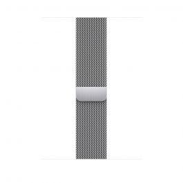 Curea Apple pentru Apple Watch 45mm Silver Milanese Loop