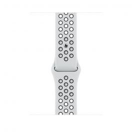 Curea Apple pentru Apple Watch 45mm Pure Platinum/Black Nike Sport Band - Regular