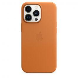 Husa de protectie Apple cu MagSafe pentru iPhone 13 Pro, Piele, Golden Brown