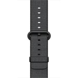 Curea Apple Watch 38mm Black Woven Nylon