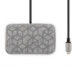 Dock Moshi Symbus Q compact USB-C cu încărcare wireless, Nordic Gray
