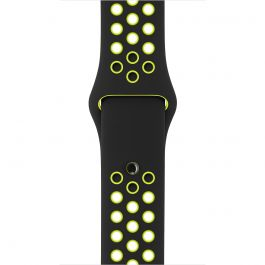 Curea Apple Watch 38mm Nike Black/Volt Nike Sport Band - S/M & M/L
