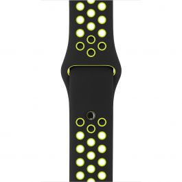 Curea Apple Watch 42mm Nike Black/Volt Nike Sport Band - S/M & M/L