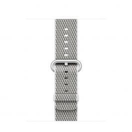 Curea Apple Watch 38mm White Check Woven Nylon