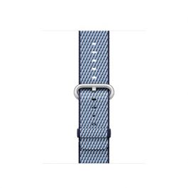Curea Apple Watch 38mm Midnight Blue Check Woven Nylon