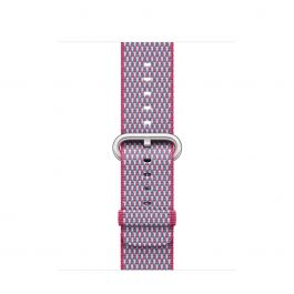 Curea Apple Watch 38mm Berry Check Woven Nylon