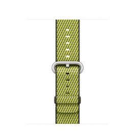 Curea Apple Watch 38mm Dark Olive Check Woven Nylon