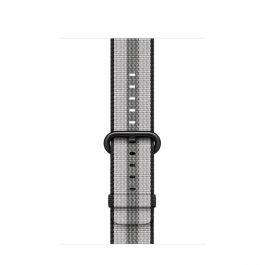 Curea Apple Watch 42mm Black Stripe Woven Nylon