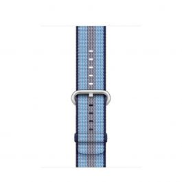 Curea Apple Watch 42mm Midnight Blue Stripe Woven Nylon