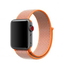 Curea Apple Watch 38mm Band: Spicy Orange Sport Loop
